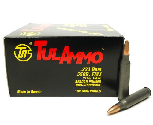 .223 55 Grain FMJ TulAmmo -  500 Rounds