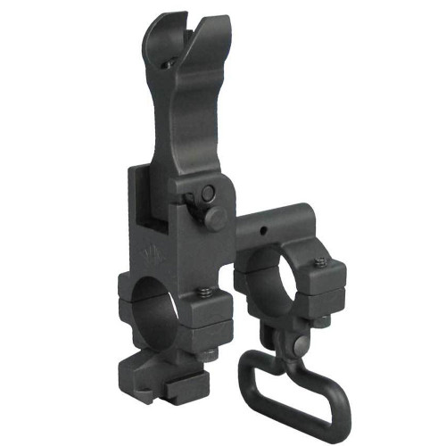 Yankee Hill AR-15 Front Flip Up Sight Tower with Lug Hooded YHM-9394-H