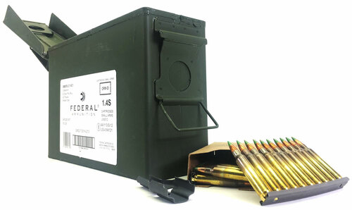 5.56 XM855 62 Grain Penetrator FMJ Lake City US Military - 420 Rounds on STRIPPER CLIPS in AMMO CAN LCXM855LC1 AC1