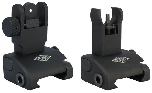 Yankee Hill Q.D.S. Same Plane Flip Up Sight System Front & Rear Hooded Front