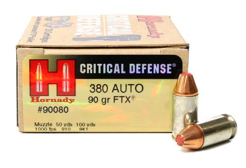 9mm 115 Grain FTX Hornady Critical Defense - 20 Rounds