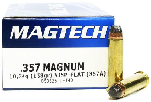 357 Magnum 158 Grain SJSP Magtech 357A