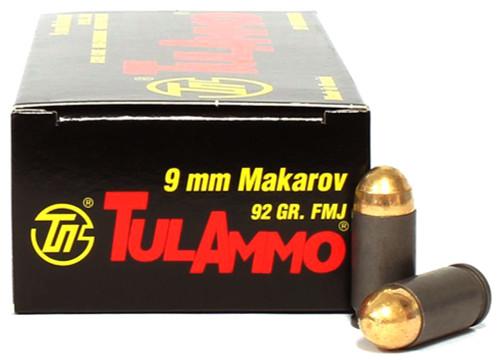 9x18 Makarov 92 Grain FMJ TulAmmo TA918092