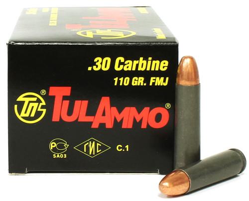 .30 Carbine 110 Grain FMJ TulAmmo TA301100