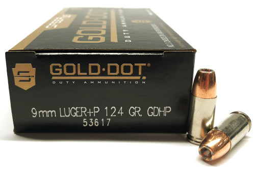 9mm 124 Grain GDHP +P Speer Gold Dot LE CC53617