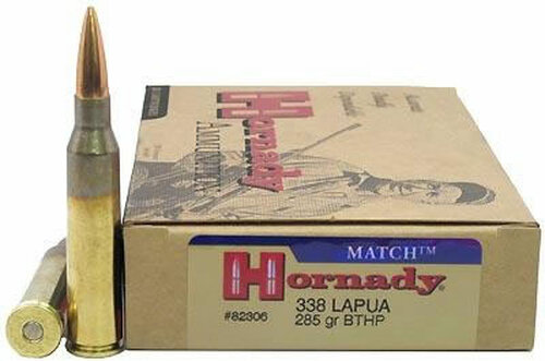 Surplus Ammo .338 Lapua 285 Grain BTHP Hornady Match