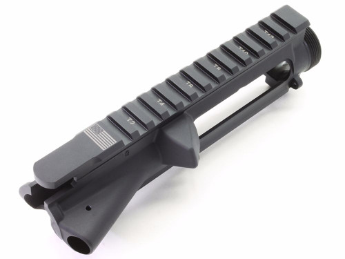 Surplusammo.com | Surplus Ammo SAA AR15 Stripped Flat Top Upper Receiver T-marked, engraved with USA Flag SAAUP036