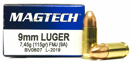 9mm 115 Grain FMJ Magtech MT9A