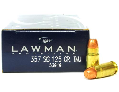 357 Sig 125 Grain TMJ Speer Lawman CC53919