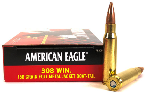 308 Win 150 Grain FMJ-BT Federal American Eagle FDAE308D