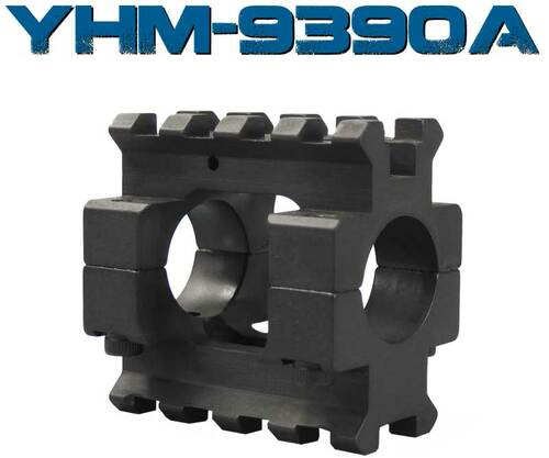 """Yankee Hill AR-15 Two Piece Railed Removable Gas Block .750"""" YHM-9390A"""