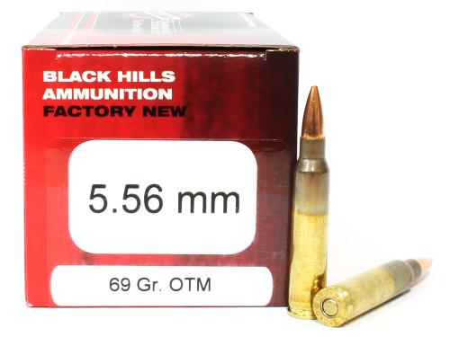 Surplus Ammo | Surplusammo.com 5.56 69 Grain Sierra OTM Black Hills - 50 Rounds, NEW Red Box BHD556N12
