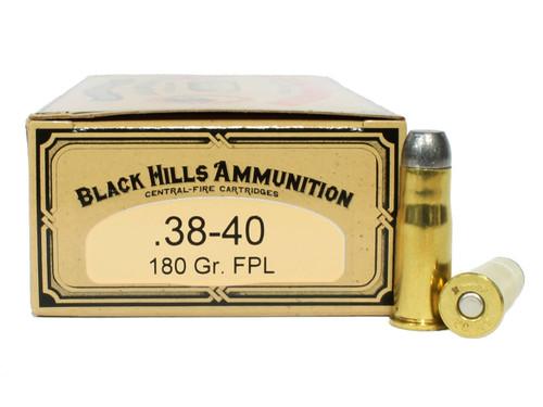 Surplus Ammo | Surplusammo.com 38-40 WCF 180 Grain Flat Point Lead Black Hills Cowboy Action Ammunition