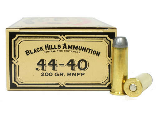 Surplus Ammo | Surplusammo.com 44-40 WCF 200 Grain Round Nose Flat Point Black Hills Cowboy Action Ammunition