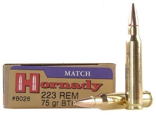Surplus Ammo .223 75 Grain BTHP Hornady Match Rifle Ammunition Hollow Point Boat Tail