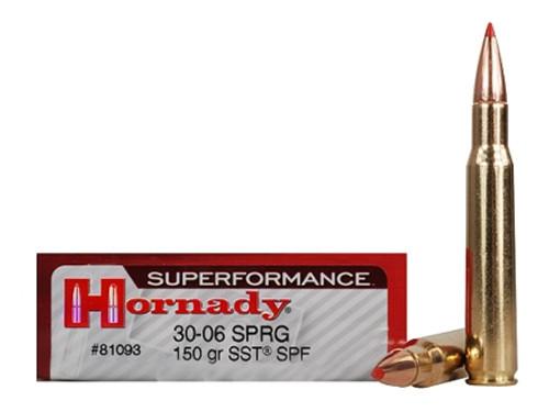 Surplus Ammo .30-06 Springfield 150 Grain SST Hornady SUPERFORMANCE