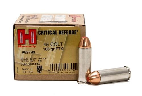 Surplus Ammo | Surplusammo.com 45 Long Colt 185 Grain FTX Hornady Critical Defense