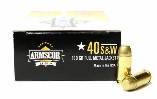 Surplus Ammo | Surplusammo.com 40 S&W 180 Grain FMJ Armscor USA Ammunition