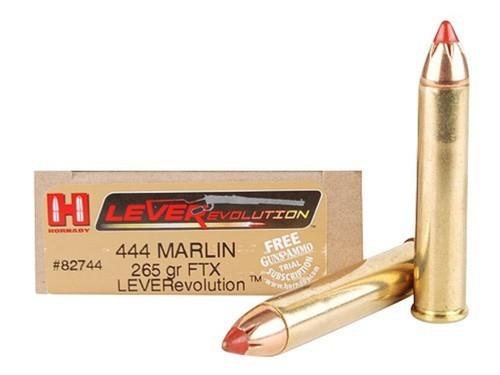 Surplus Ammo 444 Marlin 265 Grain FTX Hornady LEVERevolution