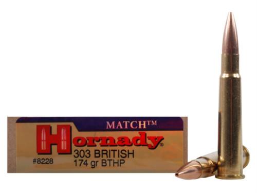 .303 British 174 Grain BTHP Hornady Vintage Match - 20 Rounds