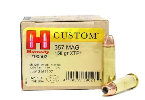 Surplus Ammo   Surplusammo.com 357 Magnum Ammo 158 Grain XTP JHP Hornady Custom Jacketed Hollow Point Ammunition