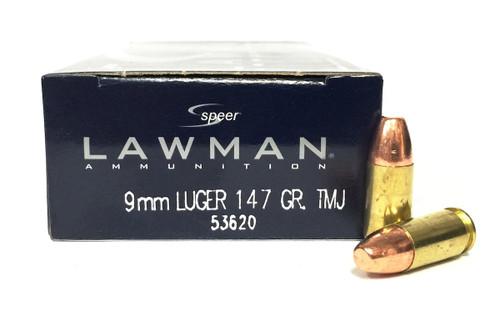 Surplus Ammo   Surplusammo.com 9mm 147 Grain TMJ Speer Lawman Ammunition 53620