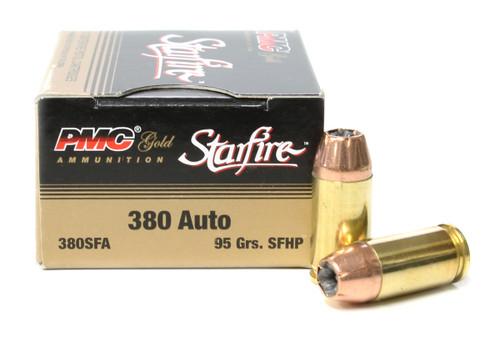 Surplus Ammo, Surplusammo.com 380 Auto 95 Grain StarFire HP PMC Gold