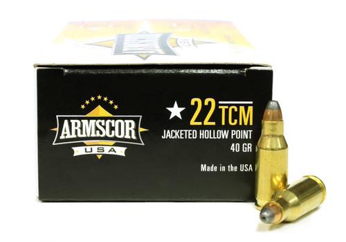 Surplus Ammo | Surplusammo.com .22 TCM 40 Grain JHP Armscor USA Ammunition