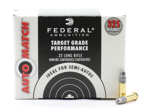 Federal Automatch .22LR Rimfire Ammunition Lead Round Nose 22 Long Rifle AM22