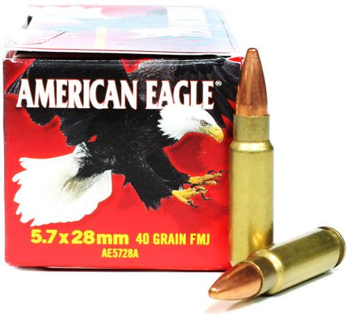 5.7x28mm 40 Grain FMJ Federal American Eagle FDAE5728A