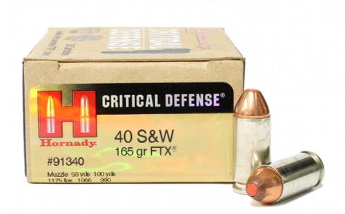 Surplus Ammo | Surplusammo.com 40 S&W 165 Grain FTX Hornady Critical Defense Ammunition