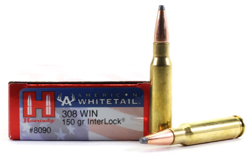Surplus Ammo .308 Win 150 Grain Interlock SP Hornady American Whitetail