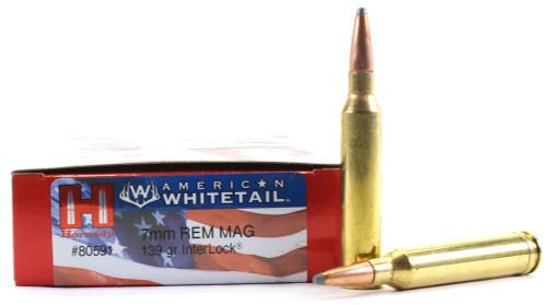 Surplus Ammo 7mm Rem Mag 139 Grain Interlock SP Hornady American Whitetail