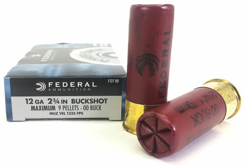 "12 Gauge Federal Power Shok 2 3/4"" 00 Buckshot 9 Pellet FDF127 00"
