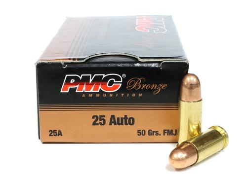 Surplus Ammo | Surplusammo.com 25 Auto 50 Grain FMJ PMC Bronze