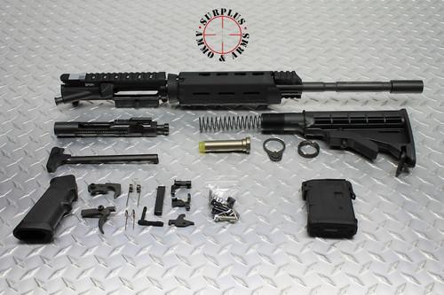 "Surplusammo.com 5.56 16"" M4 1:7 Carbine MLOK Dragon's Head, LPK, Collapsing Stock Rifle Kit Less Lower Receiver  (1516SM7CC21MCCDKIT2)"