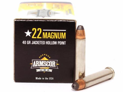 22 Magnum 40 Grain JHP Armscor Precision ACIP-22WMR