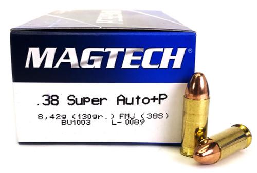 38 Super Auto 130 Grain FMJ +P Magtech 38S