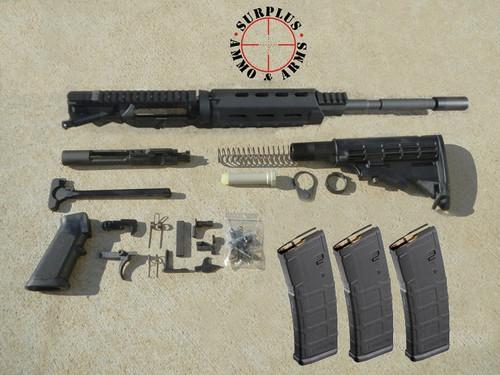 "Surplusammo.com 5.56 16"" M4 1:7 Carbine MLOK Dragon's Head LPK, Collapsing Stock (1516SM7CC21MCCDKIT1)"