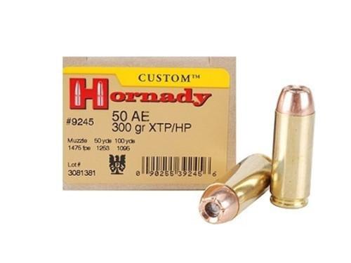 50 AE 300 Grain XTP Jacketed Hollow Point Hornady Custom - 200 Rounds