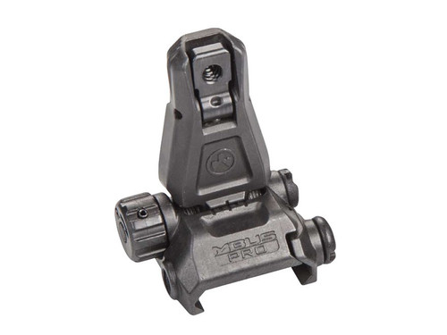Magpul MBUS PRO Flip Up Rear Sight, Black Steel