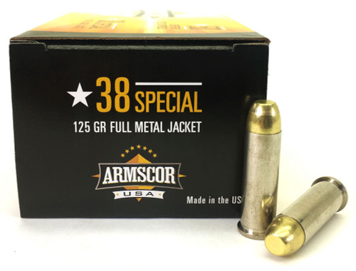 Surplus Ammo | Surplusammo.com 38 Special 125 Grain FMJ Armscor USA Ammunition