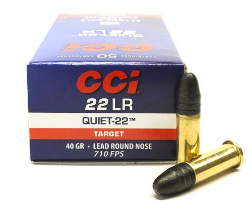 22 LR CCI Quiet 40 Grain Lead Round Nose Ammo 00960 CC00960