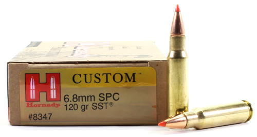 Surplus Ammo 6.8mm SPC 120 Grain SST Hornady Custom Rifle Ammunition HO8347