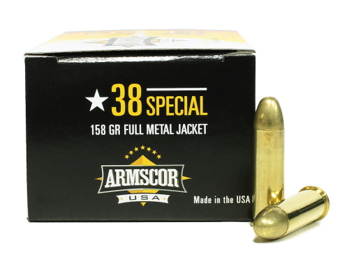 Surplus Ammo | Surplusammo.com 38 Special 158 Grain FMJ Armscor USA Ammunition