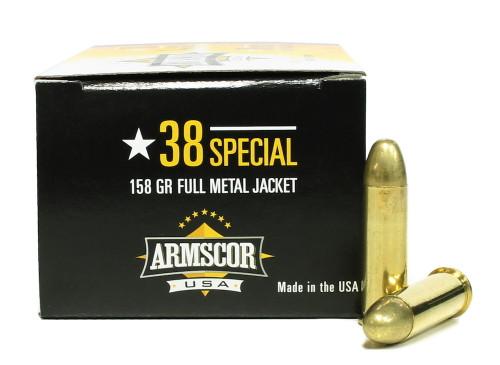 Surplus Ammo | Surplusammo.com 38 Special 158 Grain FMJ Armscor USA Ammunition