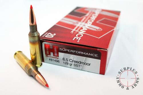Surplus Ammo 6.5 Creedmoor 129 Grain SST Hornady SUPERFORMANCE
