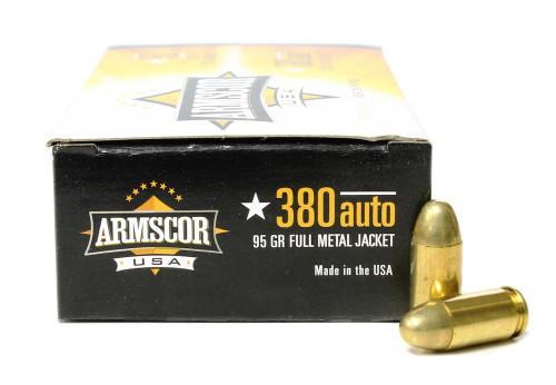 380 Auto 95 Gr FMJ Armscor USA Ammunition AC380-2N