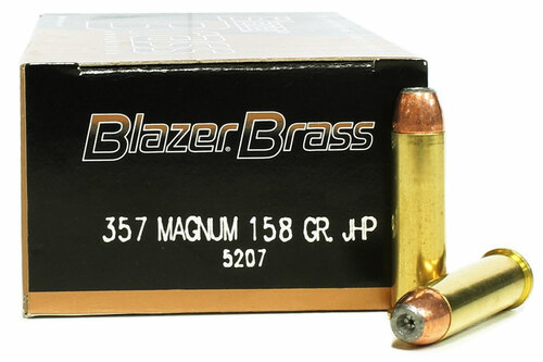 357 Magnum 158 Grain JHP CCI Blazer Brass Ammo CC5207