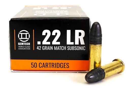 22 LR Gemtech Silencer Subsonic 42 Grain Lead Round Nose GTGSS22